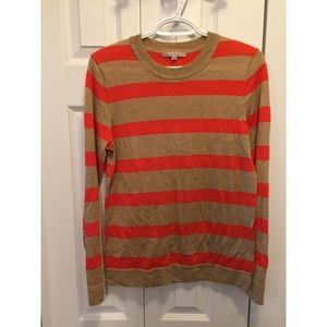 The Gap Orange & Tan Striped Sweater